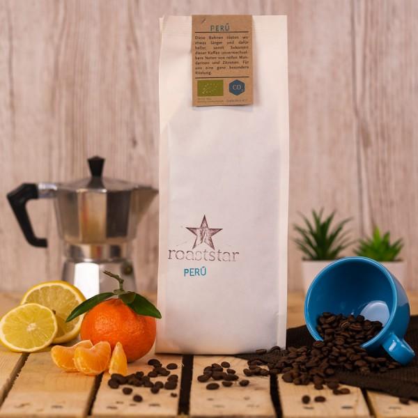 Entkoffeinierte Peru Espressoröstung